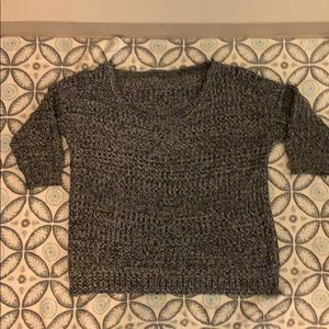 Super comfy black and white sweater